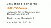 Hallo-TV-Corner auf der E-Mobilitätsmesse