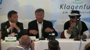 Pressekonferenz mit dem Interpreten des offiziellen EM Songs