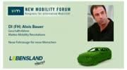 New Mobility Forum 2012 - DI (FH) Alois Bauer (Englische Version)