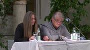 Silke Hassler und Peter Turrini im Rathaushof St. Veit an der Glan