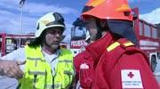 Feuerwehr Großunfall Übung erfolgreich abgelaufen