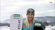 Snowboarderin Sabine Schöffmann auf Erfolgskurs